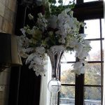 large orchid wedding arrangement