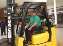 Barbara on Forklift